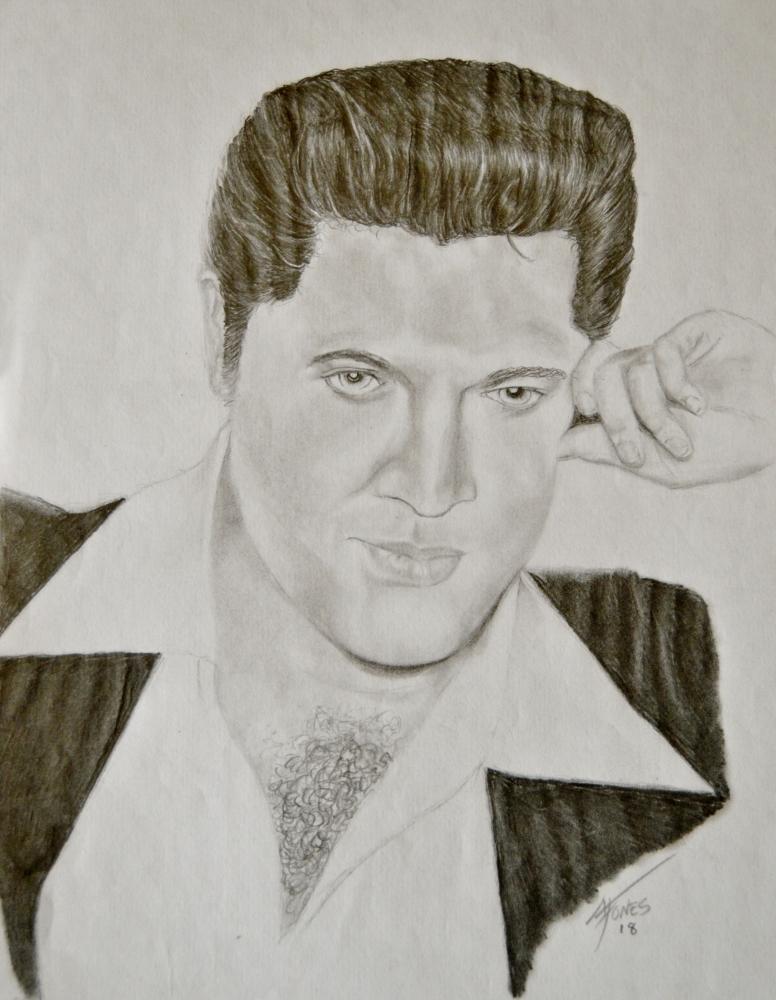 Elvis Presley by aljentart